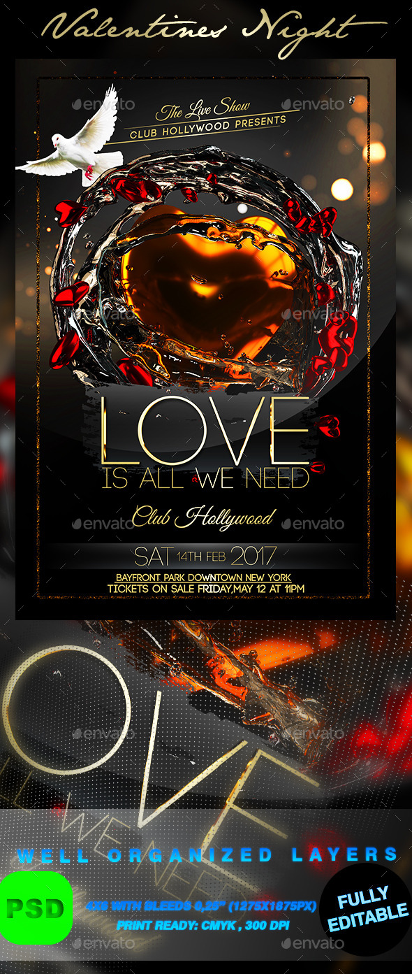 Valentines Night - Events Flyers