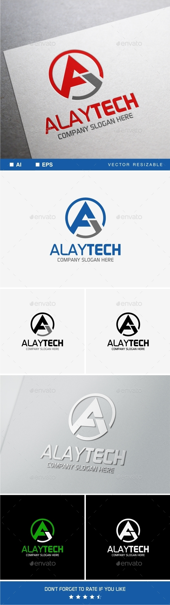 Alaytech • A Letter Logo Template - Letters Logo Templates