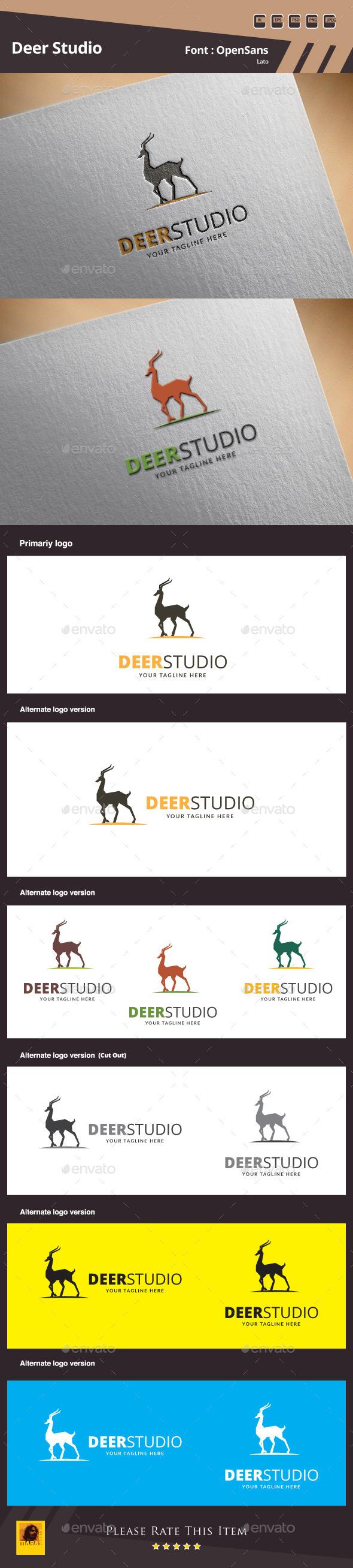 Deer Studio Logo Template - Animals Logo Templates
