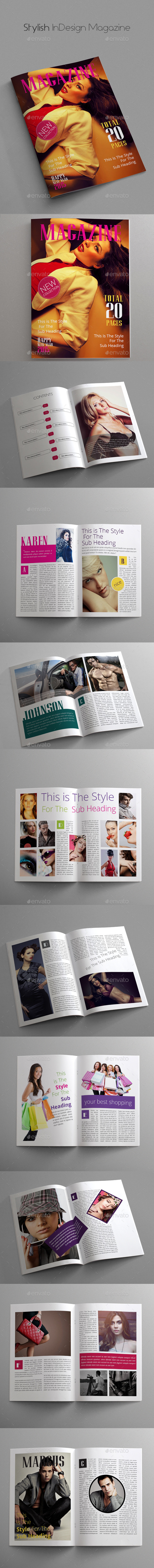 Stylish InDesign Magazine - Magazines Print Templates