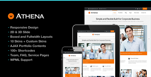 Athena Simple Flexible Corporate Business Theme