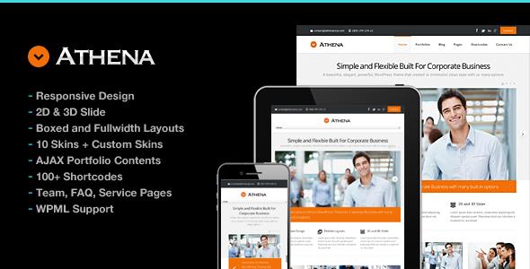 Athena Simple Flexible Corporate Business Theme