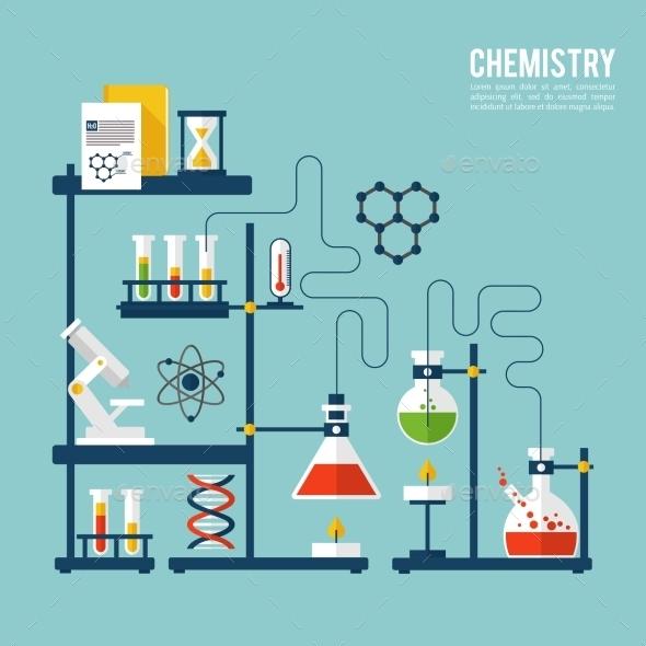 Chemistry Background Template - Backgrounds Decorative