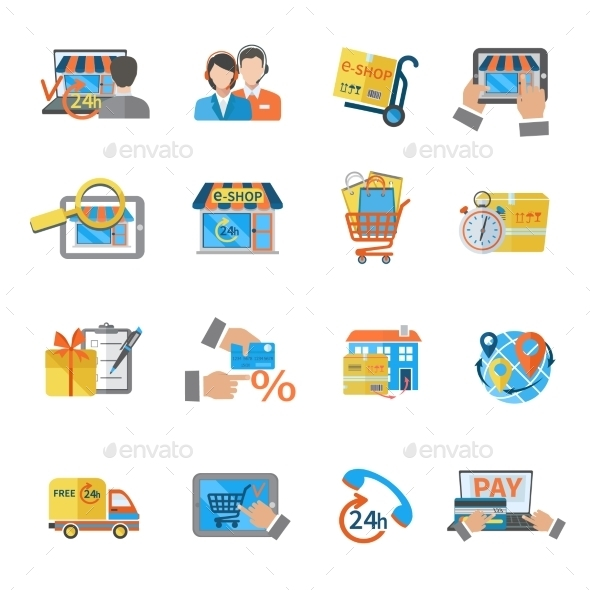 Shopping E-commerce Icon - Business Icons