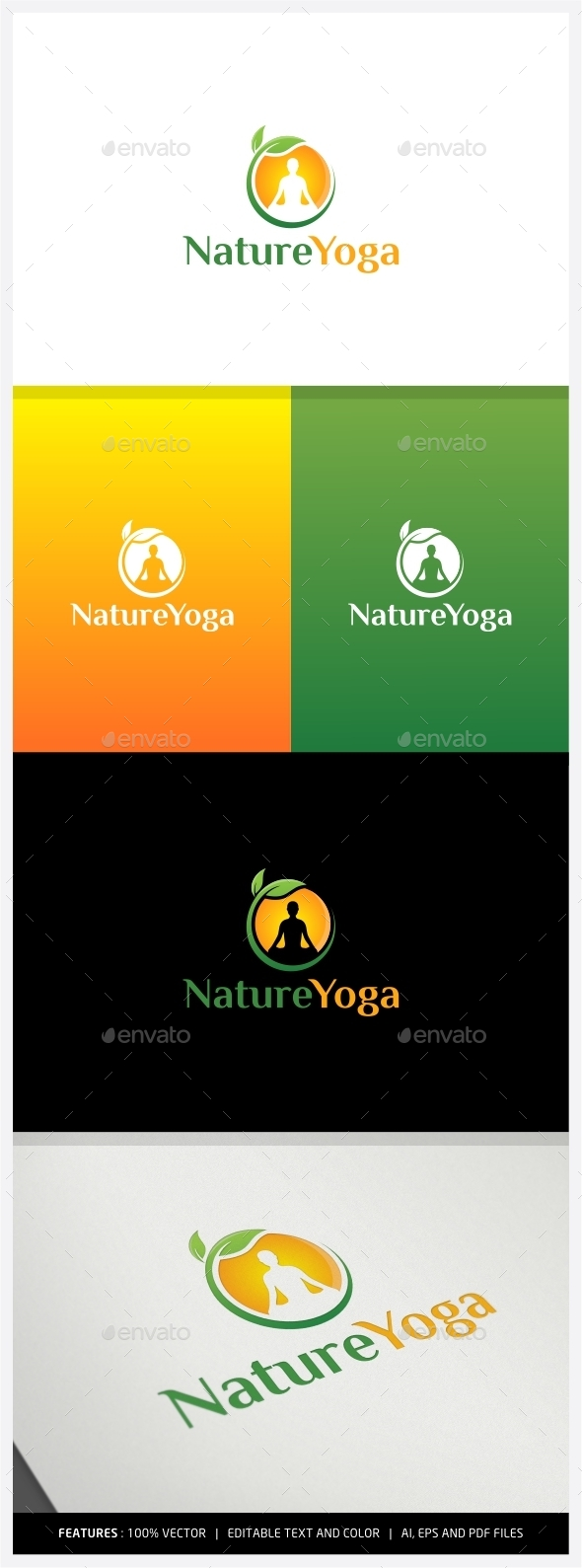 Nature Yoga Logo - Humans Logo Templates