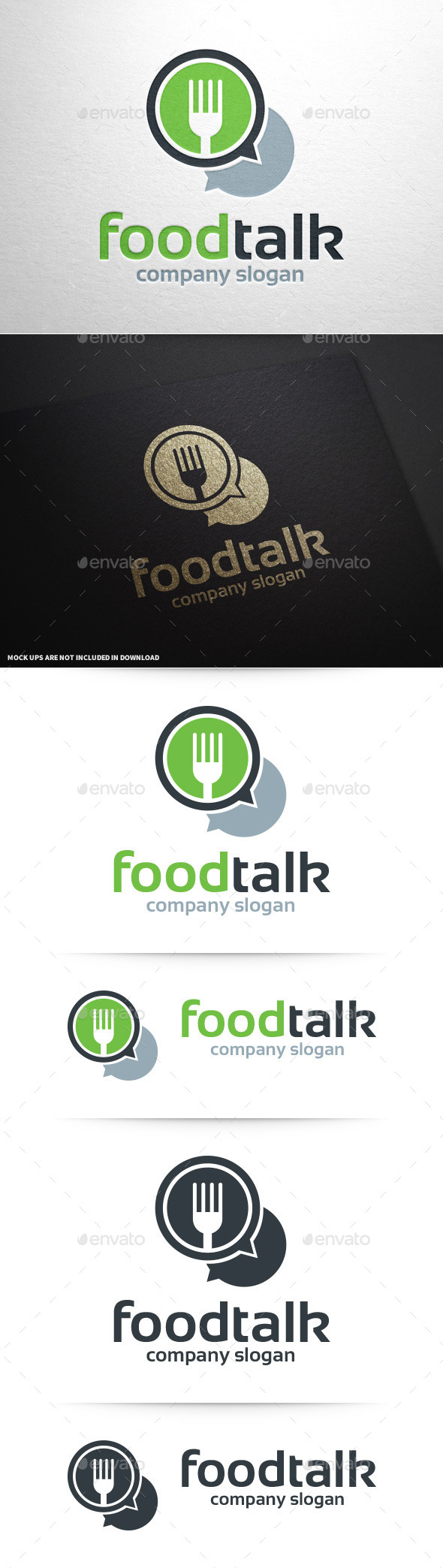Food Talk Logo Template - Food Logo Templates
