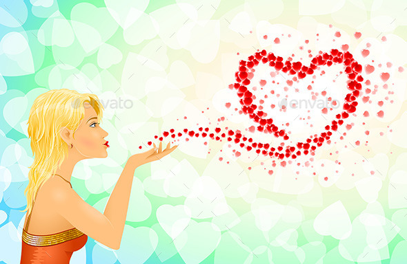 Girl Heart Sign Love Messages - Valentines Seasons/Holidays