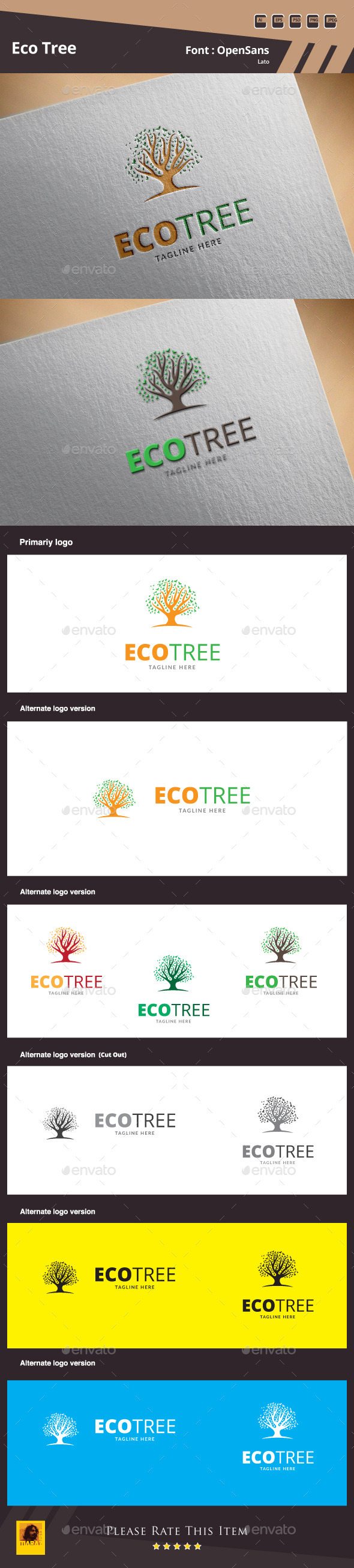 Eco Tree Logo Template - Nature Logo Templates