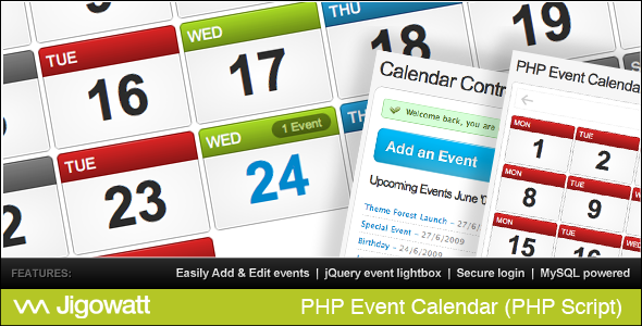 PHP Event Calendar nulled