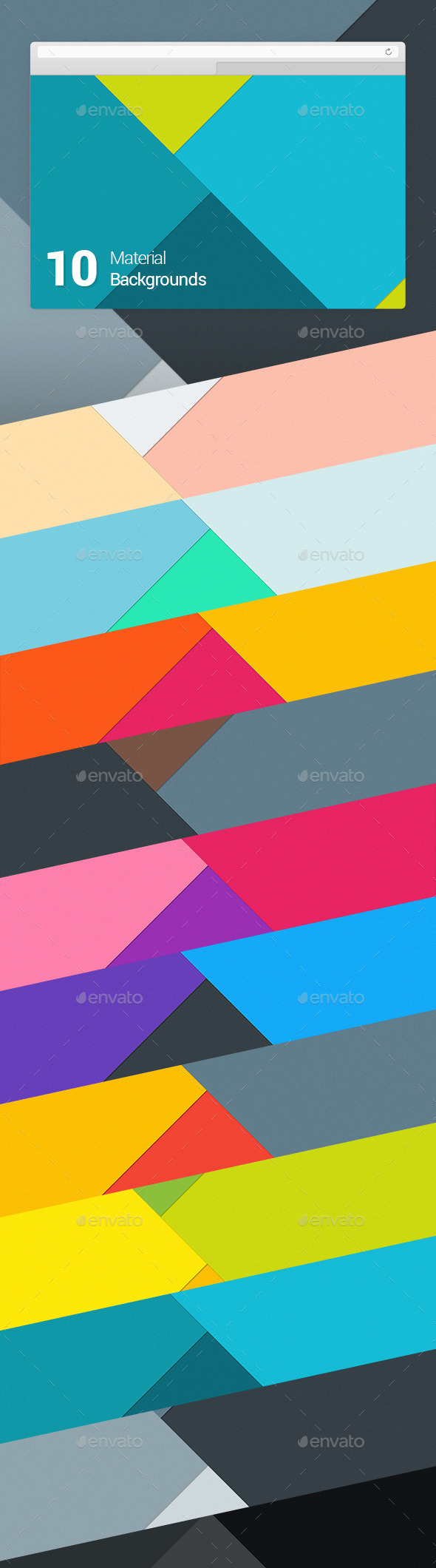 10 Material Design Backgrounds Vol 1 - Abstract Backgrounds