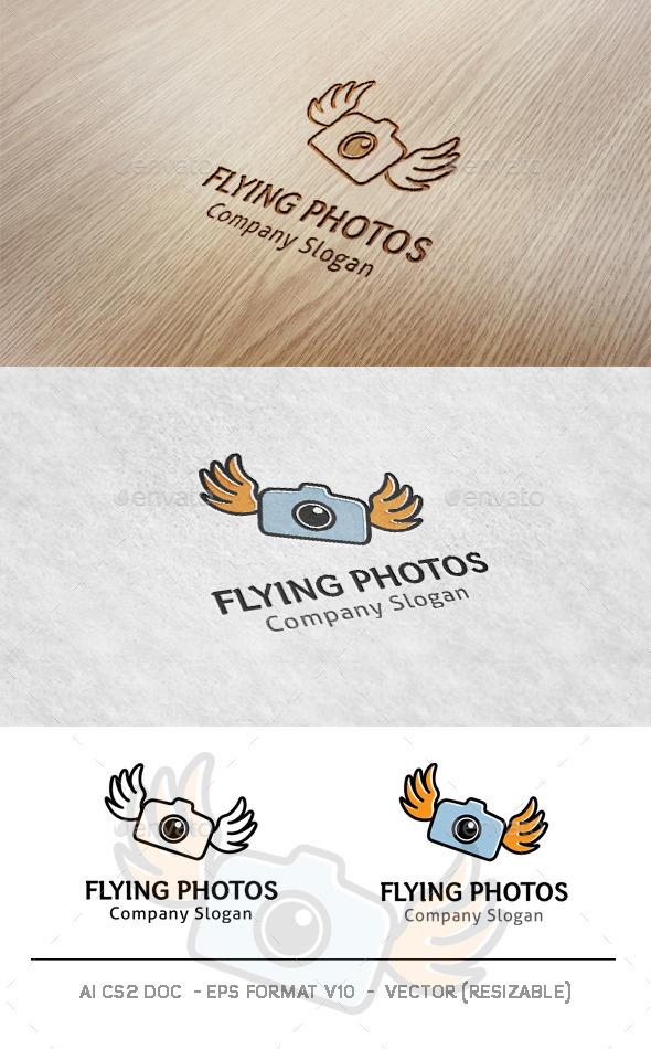 Flying Photos Logo - Objects Logo Templates