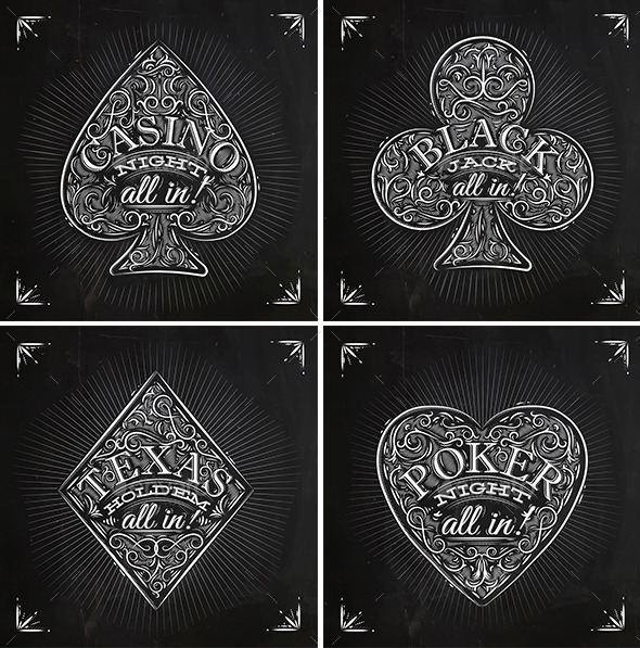 Casino Signs chalk  - Concepts Business