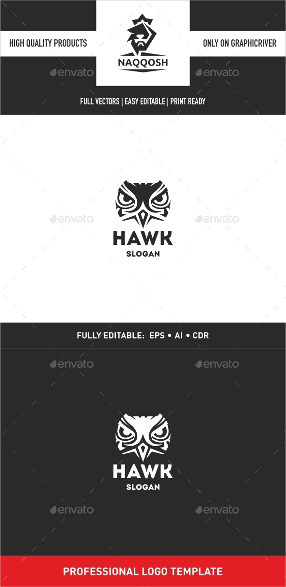 Hawk - Animals Logo Templates