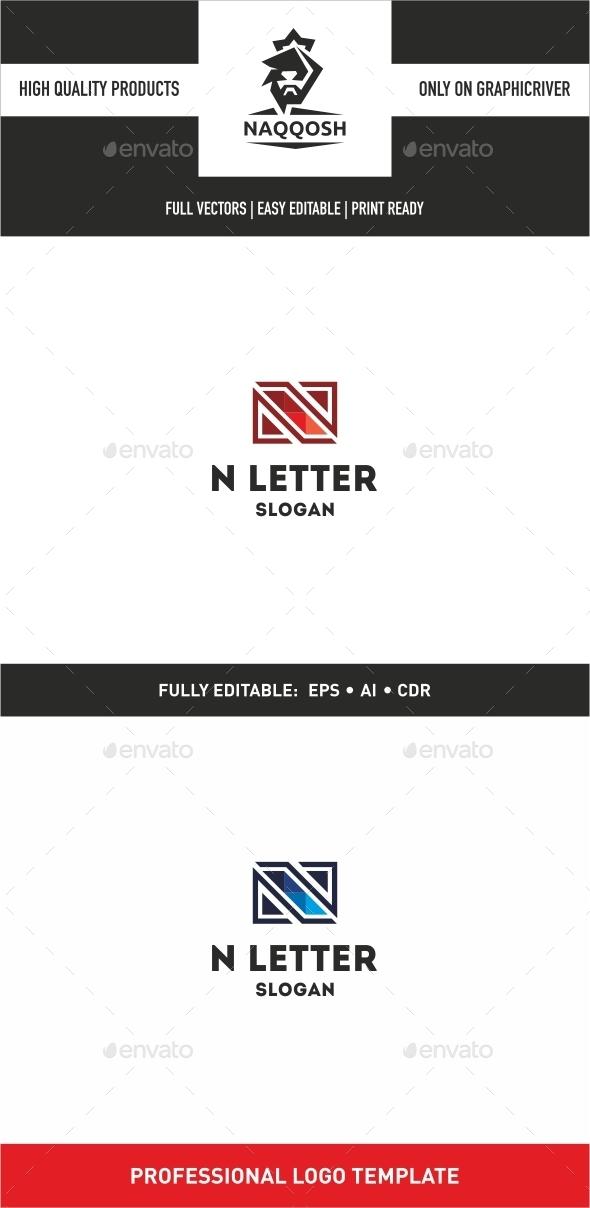 N Letter - Letters Logo Templates