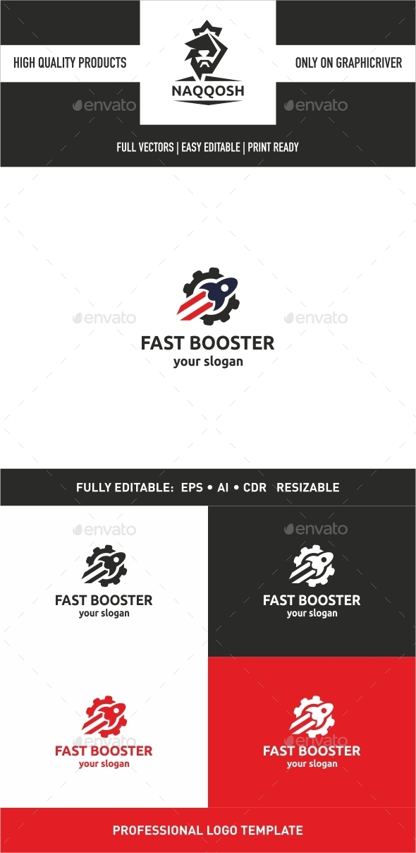 Fast Booster - Logo Templates