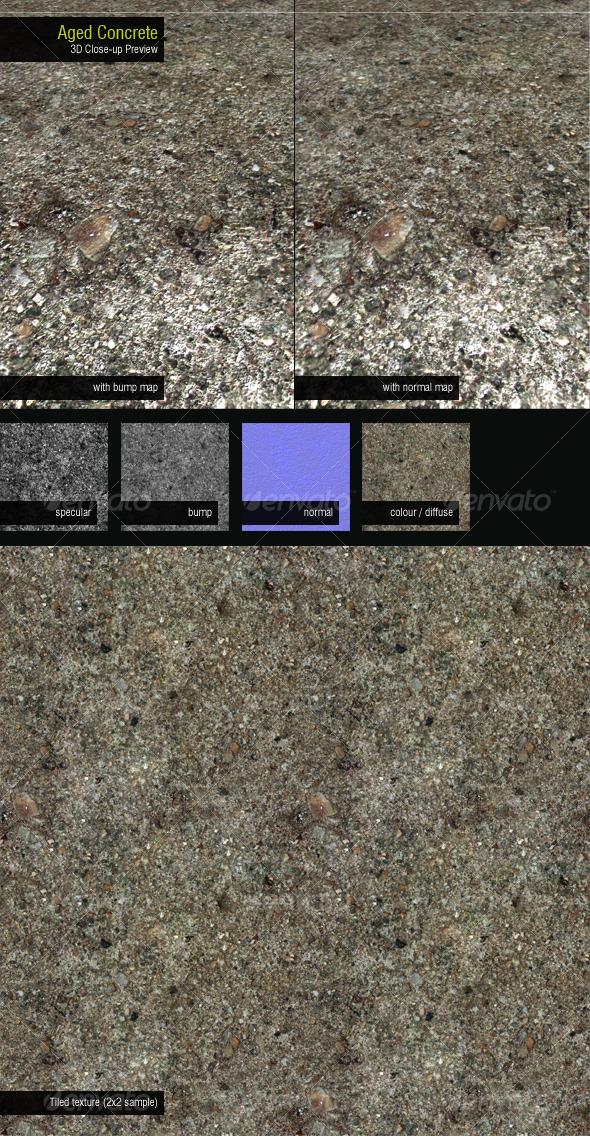 Aged Concrete - 3DOcean Item for Sale