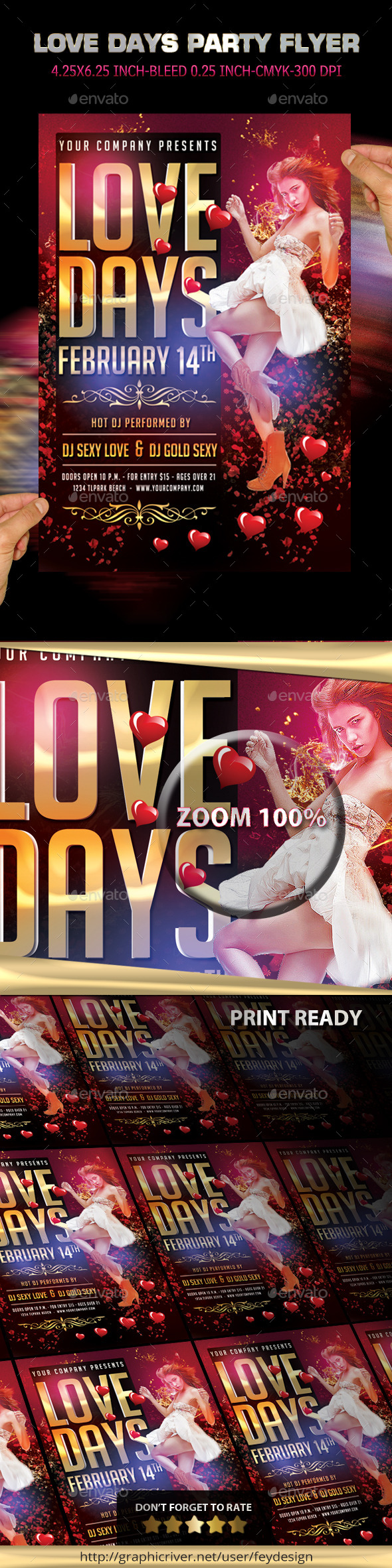 Love Days Valentine Flyer