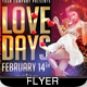 Love Days Valentine Flyer - GraphicRiver Item for Sale