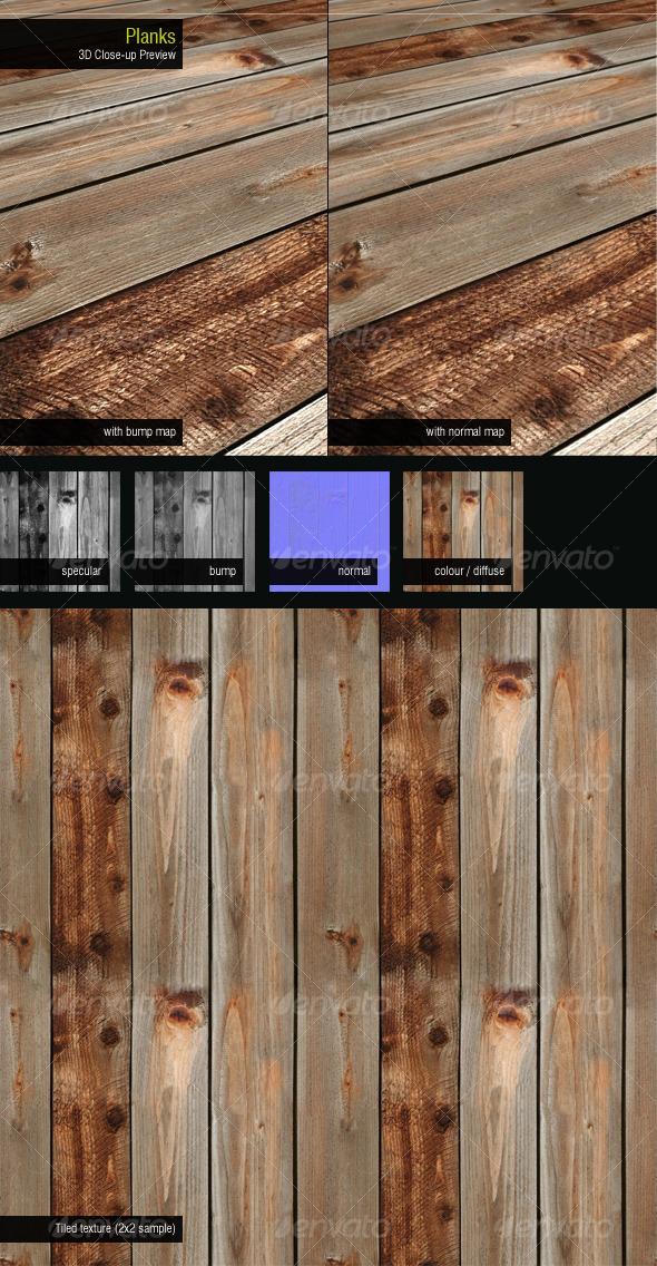 Planks - 3DOcean Item for Sale