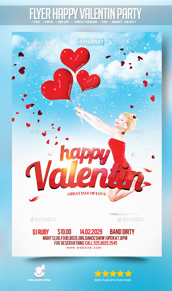 Flyer Happy Valentin Party - Clubs & Parties Events