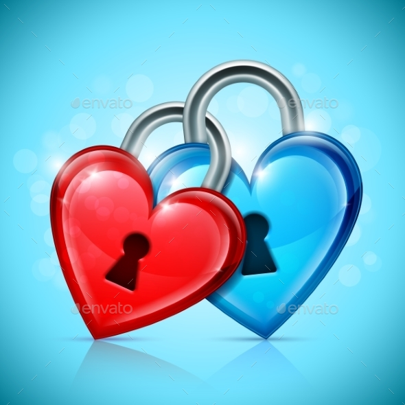 Two Heart Locks - Valentines Seasons/Holidays