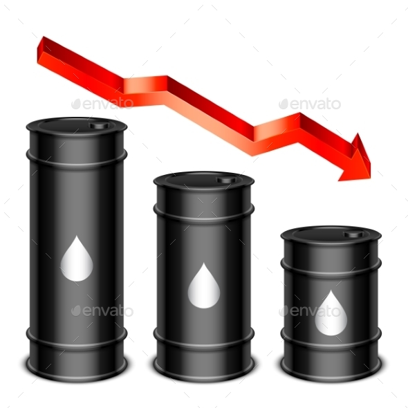 Falling Oil Price Concept - Industries Business