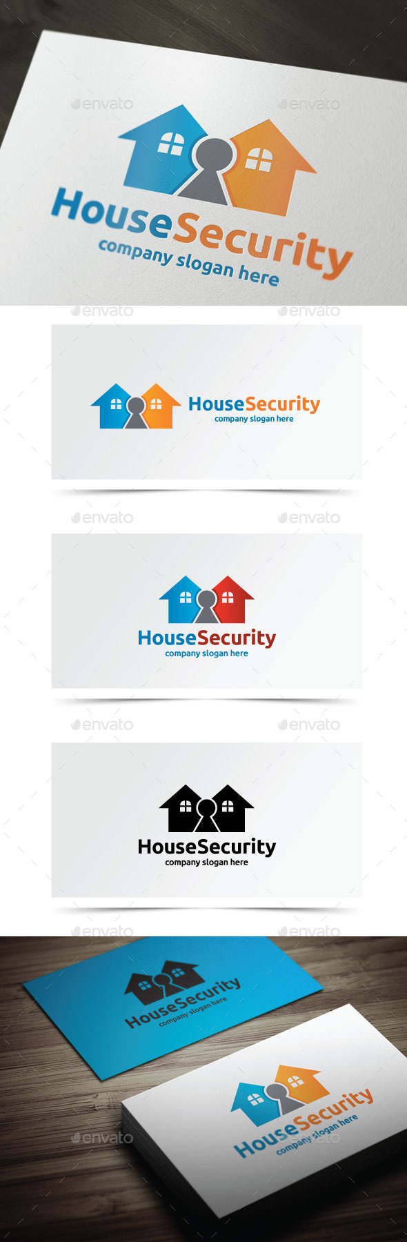 House Security - Objects Logo Templates