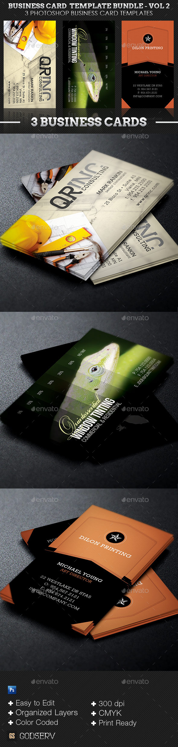 Business Card Template Bundle - Volume 2 - Industry Specific Business Cards