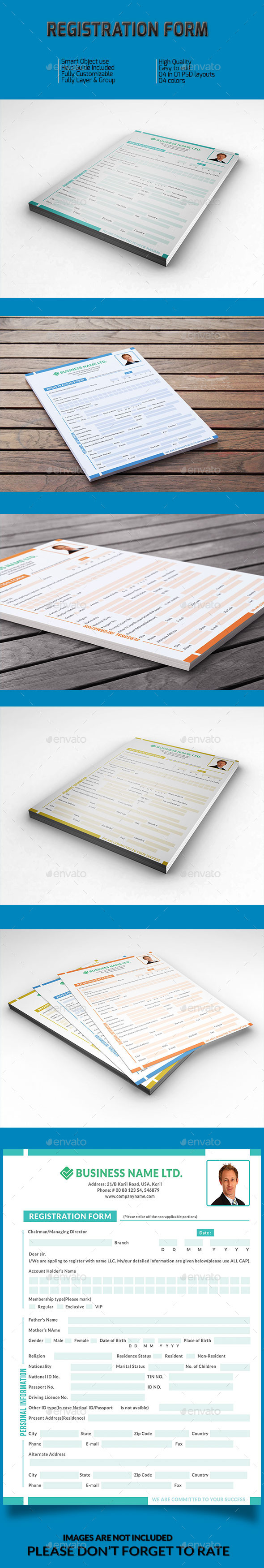 Registration Form v-01 - Miscellaneous Print Templates