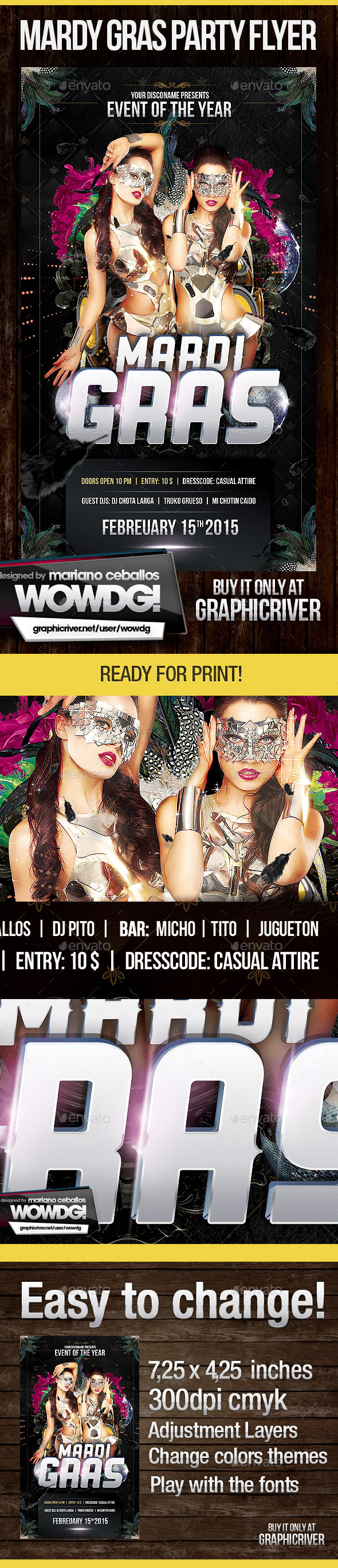 Mardi Gras Template - Events Flyers