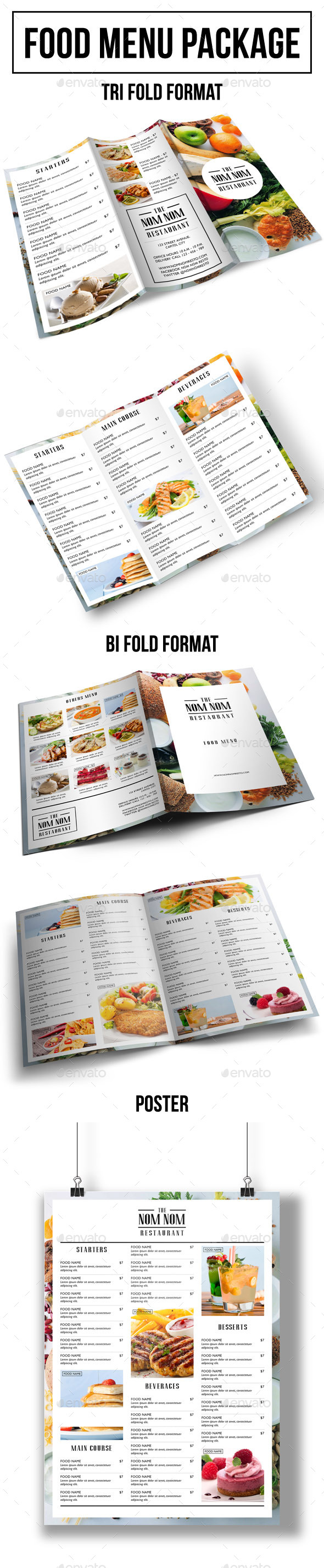 Food Menu Package - Food Menus Print Templates