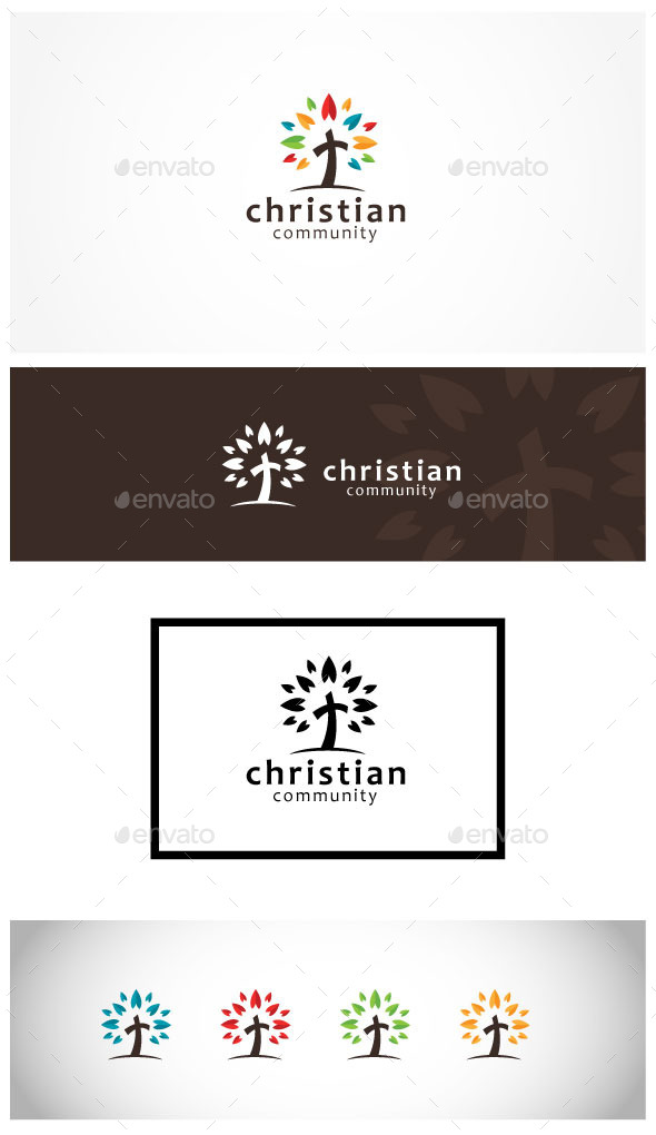 Christ Church Community - Symbols Logo Templates