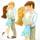 Couple Kissing - GraphicRiver Item for Sale