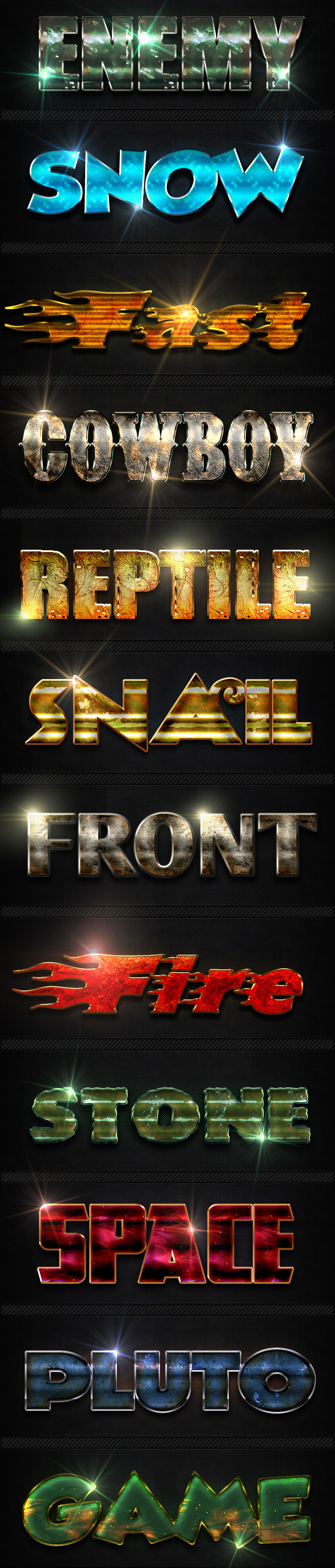 12 Photoshop Text Effect Styles - Text Effects Styles