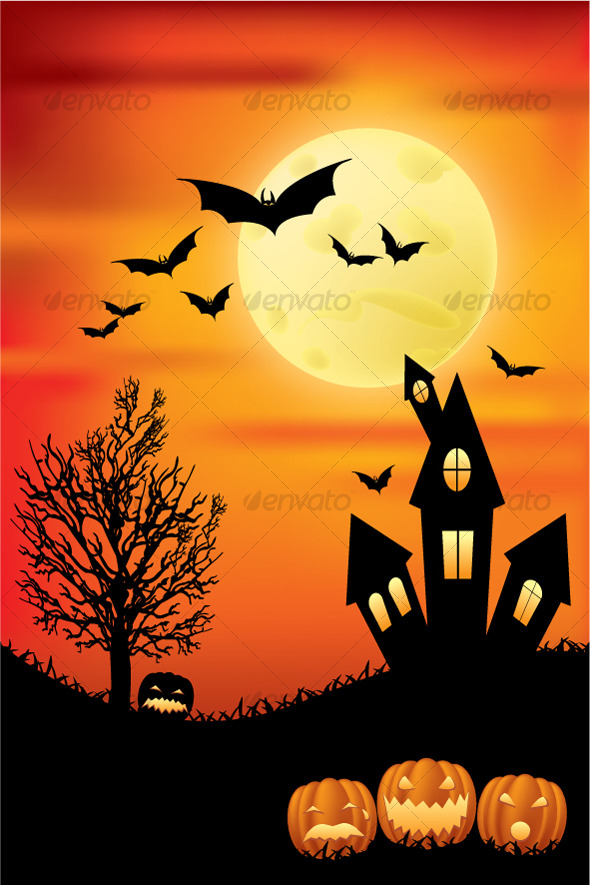 Halloween Scene - Halloween Seasons/Holidays