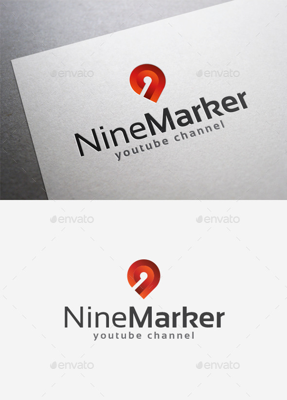 Nine Point Logo - Numbers Logo Templates