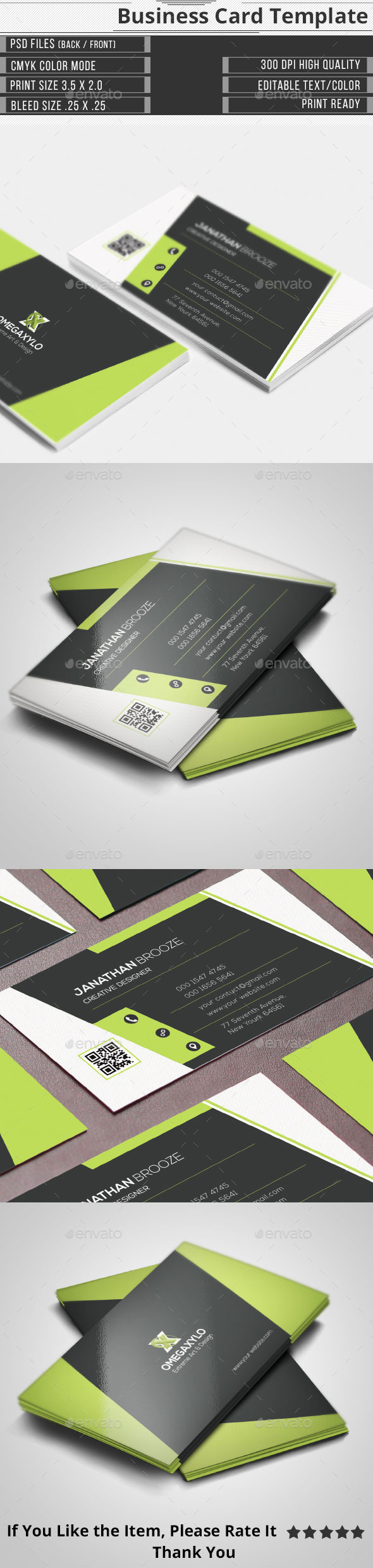 Clean Elegant Corporate Business Card - Corporate Business Cards