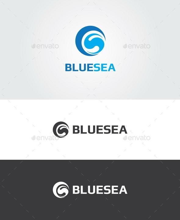 Blue Sea Logo  - Nature Logo Templates
