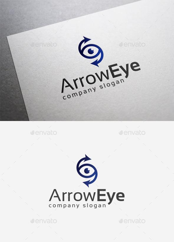 Arrow Eye Logo - Symbols Logo Templates