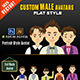 Custom Male Avatars  - GraphicRiver Item for Sale
