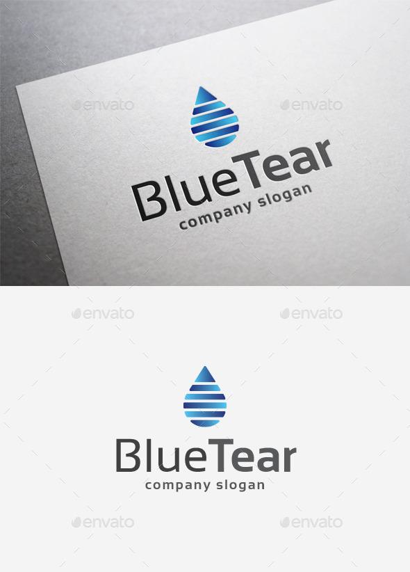 Blue Tear Logo - Objects Logo Templates
