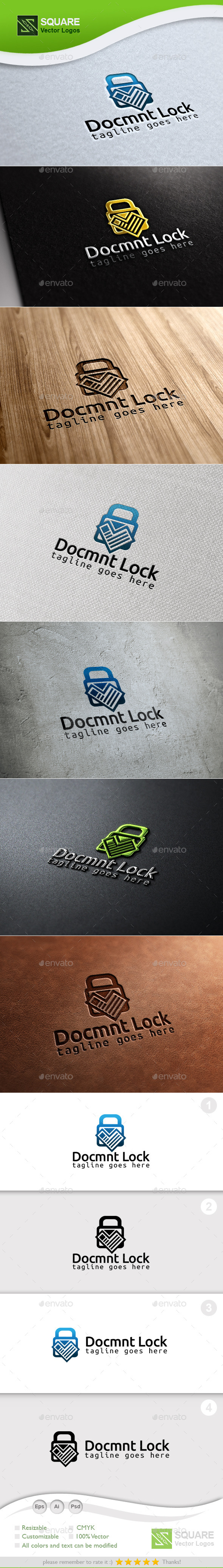 Document Locker Custom Logo Template - Symbols Logo Templates