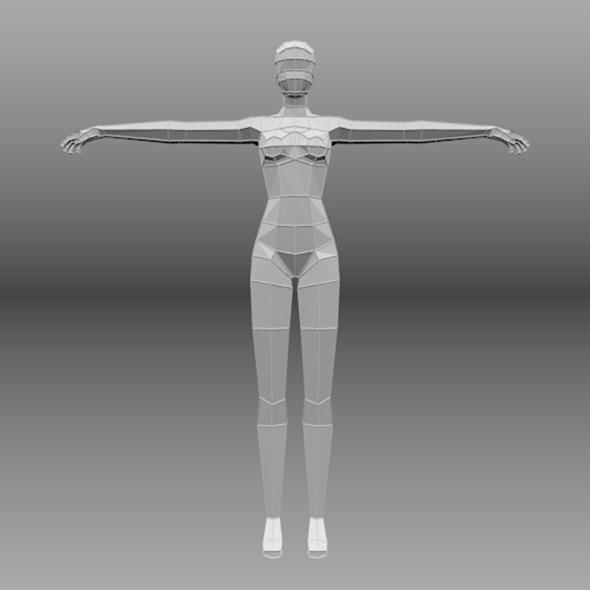 lowpoly female base mesh - 3DOcean Item for Sale