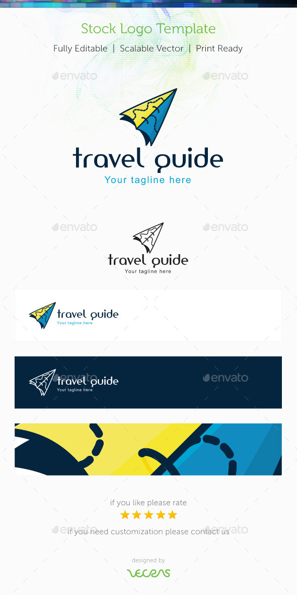 Travel Guide Stock Logo Template - Objects Logo Templates