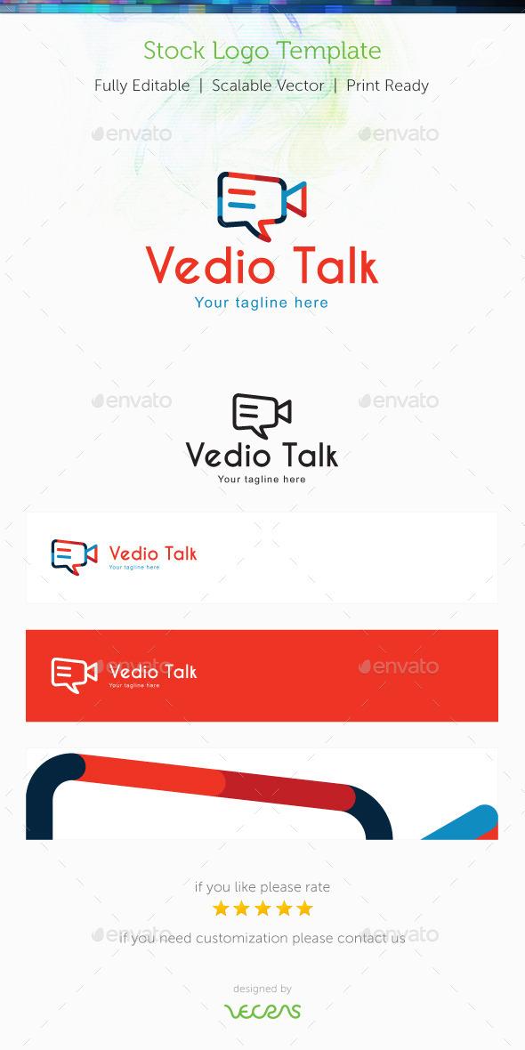 Video Talk Stock Logo Template - Symbols Logo Templates