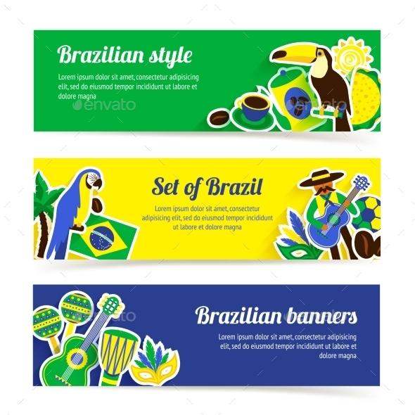 Brazil Banner Set - Travel Conceptual