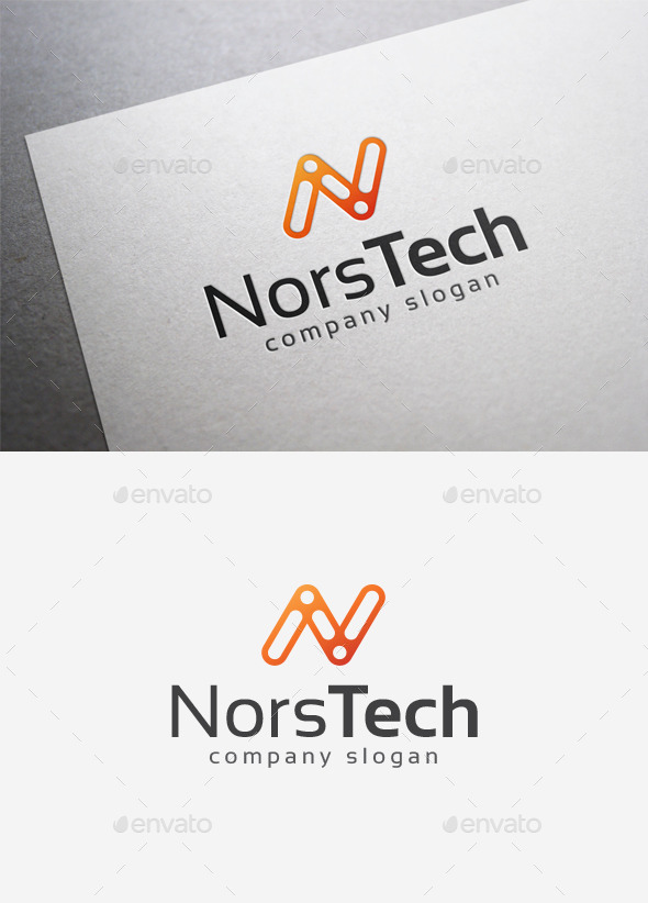 Nors Tech Logo - Letters Logo Templates