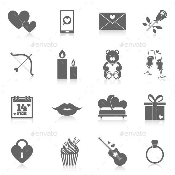 Romantic Icon Set - Miscellaneous Icons