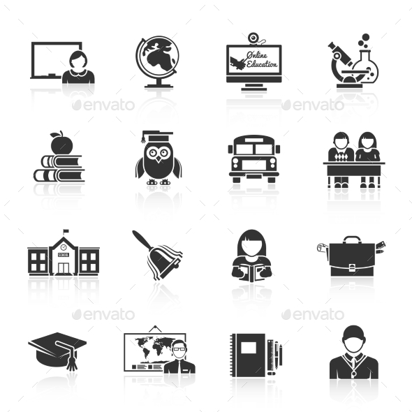School Icons - Web Elements Vectors