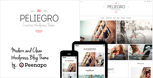 Peliegro – Clean Personal WordPress Blog Theme
